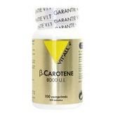 Beta carotene 8000 ui 100 comprimes vitall 3696 1