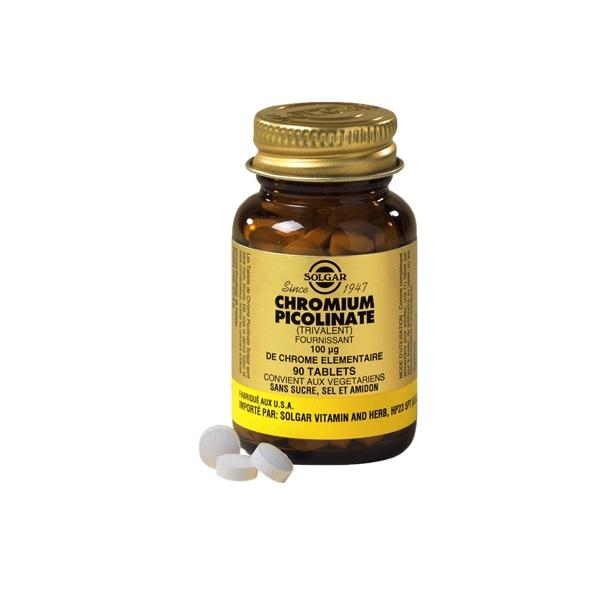 Chromium picolinate 100 g chrome 90 tablettes solgar