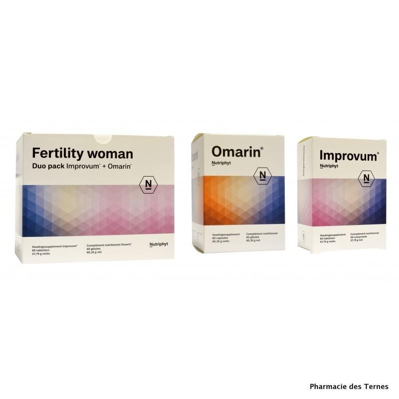 Fertility woman duo pack improvum60 comprimes omarin 60 gelules