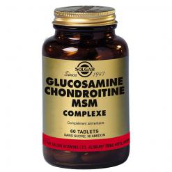 Glucosamine chondroitine msm complexe 60 tablettes solgar