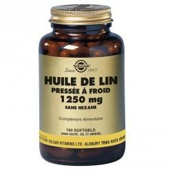 Huile de lin 1250 mg 100 ge lules solgar