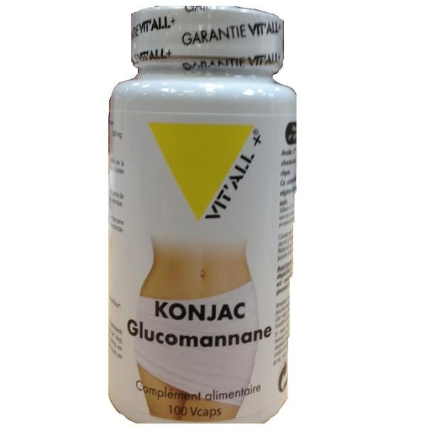 Konjac glucomannane 500mg 100 capsules vitall 3009 1