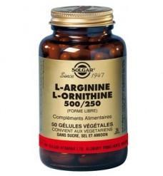 L arginine l ornithine 500 mg 250 mg 50 ge lules solgar