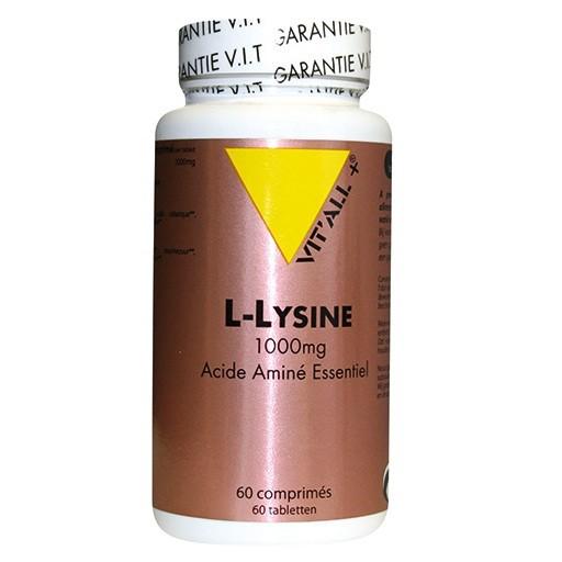 L lysine 1000 mg 60 comprime s vitall
