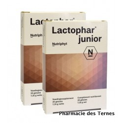 Lactophar junior lot de 2 boites de 20 gelules