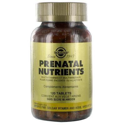 Prenatal nutriments 120 tablettes solgar
