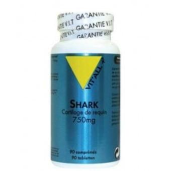 Shark cartilage de requin 750 mg 90 tablettes vitall 3687 1