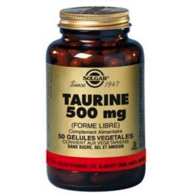 Taurine 500 mg 50 ve gicaps solgar