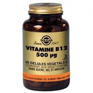 Vitamine b12 500 g 50 ge lules solgar