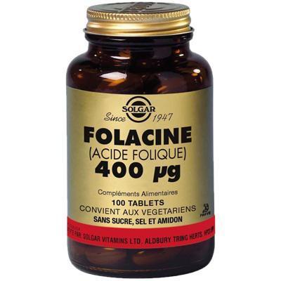 Vitamine b9 acide folique 400 g 100 capsules solgar