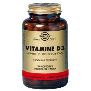 Vitamine d3 100 ge lules solgar