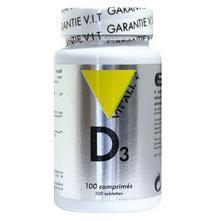 Vitamine d3 20g 100 comprimes vitall 581 1