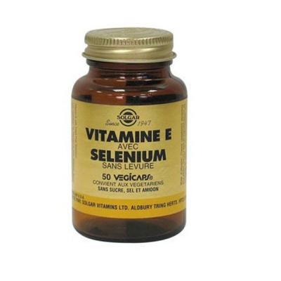 Vitamine e et se le nium 50 ge lules ve ge tales solgar