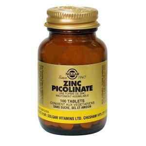 Zinc picolinate 22 mg 100 tablets solgar